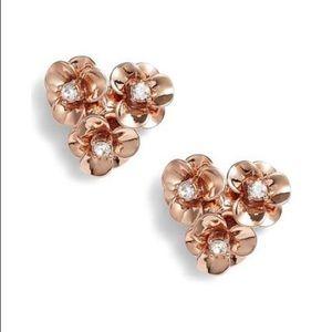 Kate Spade ♠️ rose gold flower earrings NWT